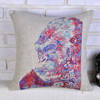 Creative Colored Orangutan Pattern Custom Cushion Cover Back Pain Relief Decorative Pillows Case Home Decoration Hot Covers