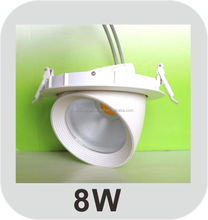 Ivory white led 360 degree rotatable downlight 8w