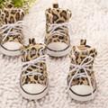 Zapatos de pet, zapatos para perros con estampado de leopardo