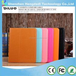 For Apple ipad 6 iPad Air 2 360 Degree Rotating Litchi Grain Leather Case Cover Pure Color Simple Style