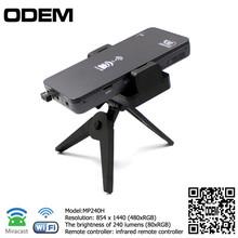 MP240H hologram projector mini projector mobile phone led Screen portable mini speaker projector