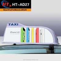 White sharp shape led car roof box for advertising