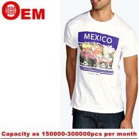 100% cotton high quality wholesale korea custom men's t-shirt custom ringspun cotton eco-friendly digital t-shirt printing