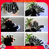 Italy Wholesale Cheap promotion led gloves skin color cotton gloves