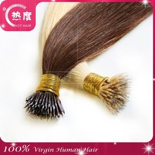 REMY MICRO NANO RING hair extensions 100% Indian Human Hair black brown blond