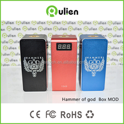 rulien Full Mechanical Quad 18650 Batteries Hammer of God Box Mod Clone Pai mod 50w hellboy in stock