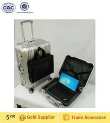 New arrival custom Logo luggage set aluminum bag trolley luggage