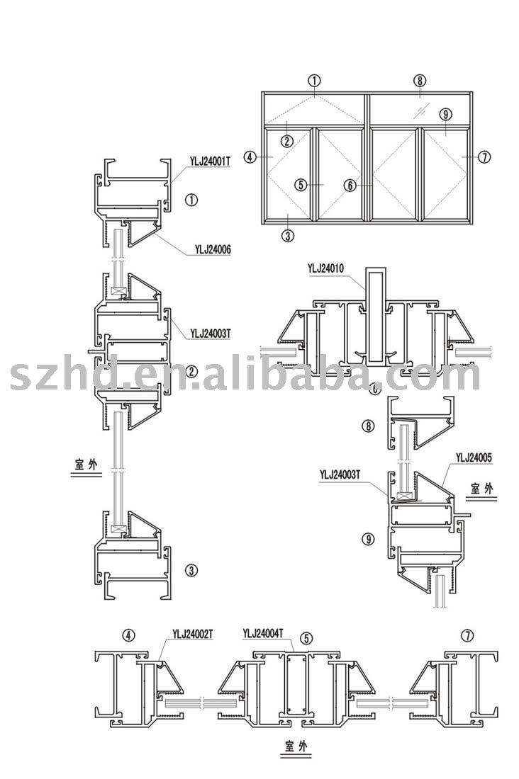 Aluminium Windows Parts : Abatible de aluminio ventana piezas otros accesorios
