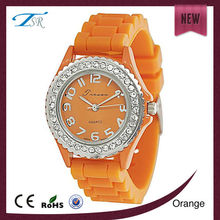 Low cost wrist watch custom silicon quartz girls fancy watches