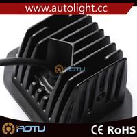 2 x 15W 5 LED Off road Work Light 12V 24V spot Beam ATV BOAT SUV Lamp Black