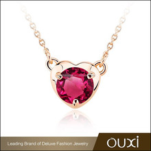 OUXI wholesale AAA zircon necklace, 2015 statement necklace,fashion necklace