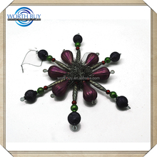 Wholesale New Age Products Glass&Plastic Snowflake Metal Snowflake Ornaments