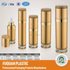 Gold acrylic plastic spray bottle with new designed cap