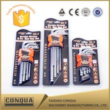 Bent handle hex key wrench