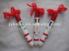 2014 Cord Plastic Ball 4 Color Pen With String