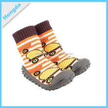 rubber sole baby sock shoes