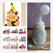 Factory cute style popular kid leather keychain toy embroidery design custom plush toy