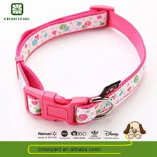 High Standard Natural Color Animal Product Leather Embossed Dog Collar