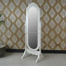 White cheap antique high quality standing dressing mirror from china