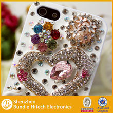Hot luxury phone case for iphone, rhinestone mobile phone cover, designer phone case for iphone