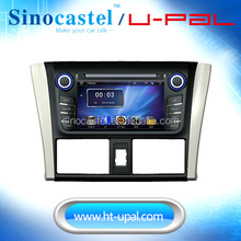 OE FIT Double DIN Car DVD Video Player for Toyota Vios/YARiS 2014 with GPS/Bluetooth A2DP/Radio/mirror link
