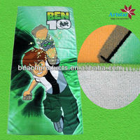 promotion microfiber printed ben 10 beach towel