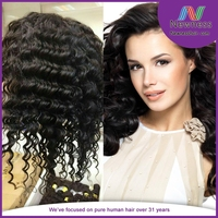 Samples free 100% virgin human philippines full lace wig deep weaving