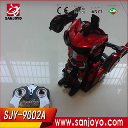 2016 China New popular robot car transform car toy with led light can dancing and fighting rc car for whole sales
