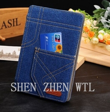 2015 jean style wallet back case for ipad air 2