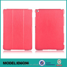 Brand new folio leather case for iPad , Hot pressing leather Case for iPad Air 2