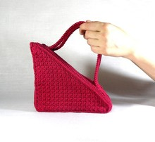 (BF0326) Felt Ladies Triangle Shape Tote Briefcase