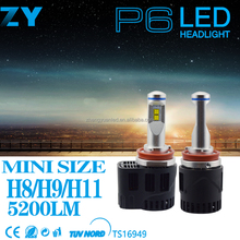 New Arrival super bright led headlight bulb P6 90W 9000LM H11 LED Headlight Bulbs With Phillips LED Chips For Cars