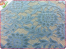 knitted Stretch Nylon polyamide cotton polyester Red Lace Fabric for wedding garment 9875