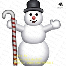 2015 good quality small inflatable snowman for Christmas decoration