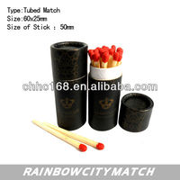 wooden match sticks in tube for hotel match