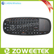 Multi-media Wireless Mini Laptop Keyboard with Mouse Pad