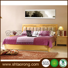 New style solid wood queen size bed designs