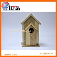 natural color wooden bird house & bird feeder on sale