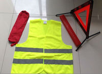 safety kits with ECE Certificate warning triangles and EN ISO 20471 safety vest