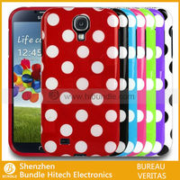 dot pattern soft TPU mobile phone case for samsung s4, for galaxy s4 smart phone case