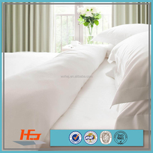 cheap white plain cotton single size bedding sets for hospital