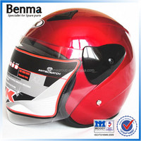 personalized motorcycle helmets open face type with ABS materials factory price