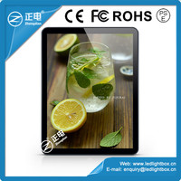 Factory direct 3528 double long side white color flashing picture frame led light box advertising for coffees