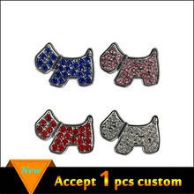 Mixed order Dogs 10mm Rhinestone Dog Pet Charms DIY slider Charms