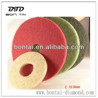 polishing pad for concrete floor and stone