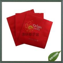 square shape metalized foil plastic bag for herbal tea packaging