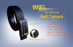 2015 first HD 1080P WIFI leather belt pinhole hidden camera with android and IOS APP,wireless wide angle belt mini camera 32gb