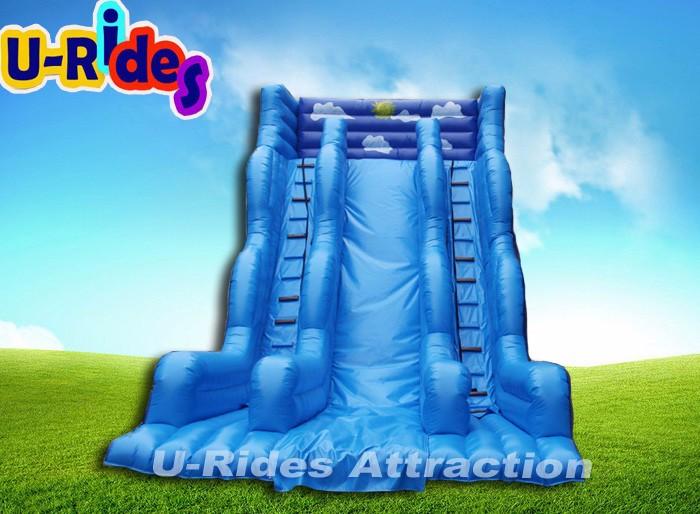 ciel bleu super haute toboggan gonflable pour piscine. Black Bedroom Furniture Sets. Home Design Ideas