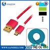 New Products Aluminium Alloy Shell Cord Fabric Braided Fashion Colorful Design Sync USB Charging Cable for Iphone 6/Samsung