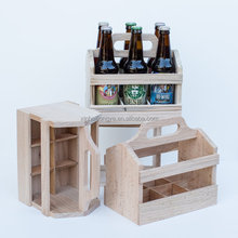 Custom Logo Printing Color Wooden Beer Carrier,Wood Bottle Carrier,Bottle Holder Wooden
